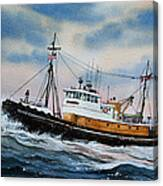 Tugboat Island Commander Canvas Print