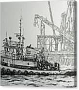 Tugboat Martha Foss Canvas Print