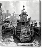 Tugboat Winter  1946 Canvas Print