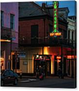 Tujagues At Night In New Orleans Canvas Print