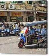 Tuk Tuk Taxis In Bangkok Thailand Canvas Print