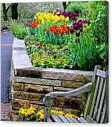 Tulip Bench Canvas Print