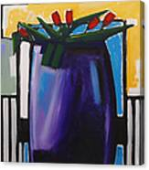 Tulipani T15- Oil On Canvas100x100 Cm Canvas Print