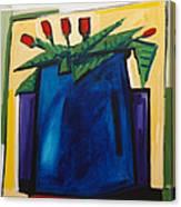 Tulipani T22 -oil On Canvas 100x100 Cm Canvas Print
