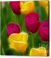 Tulips-6768-fractal Canvas Print