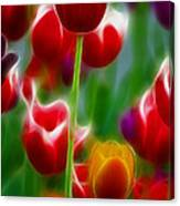 Tulips-7069-fractal Canvas Print