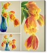 Tulips Collage Canvas Print