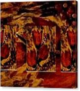 Tulips In Acryl Collage Canvas Print