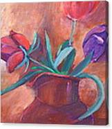 Tulips In Pitcher Canvas Print