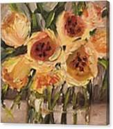 Tulips In Yellow By Alabama Artist Angela Sullivan Canvas Print