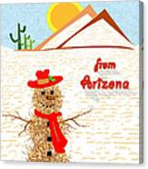 Arizona Tumbleweed Snowman Canvas Print