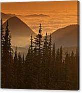 Tumtum Peak At Sunset Canvas Print