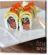 Tuna Sushi With Caviar  Canvas Print