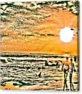 Tunco Card Couples D Canvas Print