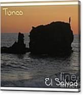 Tunco Card One Canvas Print