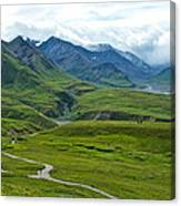 Tundra View From Eielson Visitor's Center In Denali Np-ak  Canvas Print