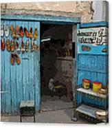Tunesian Shoemaker Shop Canvas Print