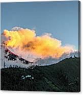 Tungurahua Blowing Off Steam Canvas Print
