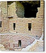 Tunnel Opening In Kiva Of Spruce Tree House On Chapin Mesa In Mesa Verde National Park-colorado  Canvas Print