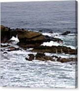 Waves Crashing Into La Jolla Shores Canvas Print