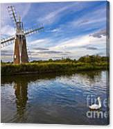 Turf Fen Drainage Mill Canvas Print