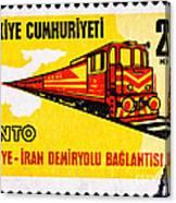 Turkey Iran Railroad Canvas Print