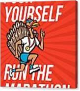 Turkey Run Marathon Runner Poster Canvas Print