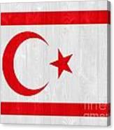 Turkish Republic Of Northern Cyprus Flag Canvas Print