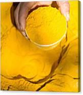 Turmeric Powder At Local Market - Myanmar Canvas Print