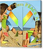 Turn Peace Around 2 Canvas Print