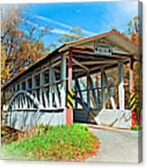 Turner's Covered Bridge Vignette Canvas Print