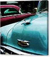 Turquoise Bel Air Canvas Print