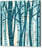 Turquoise Birch Trees Canvas Print