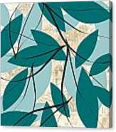 Turquoise Leaves Canvas Print