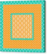 Turquoise Pumpkin Abstract Canvas Print