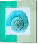 Turquoise Seashells X Canvas Print