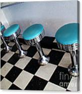 Turquoise Stools Canvas Print