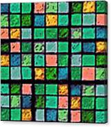 Turquoise Sudoku Canvas Print