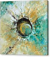 turquoise white earth tones modern abstract MIRACLE PLANET by Chakramoon Canvas Print