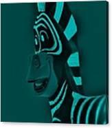 Turquoise Zebra Canvas Print