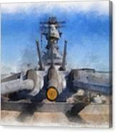 Turrets 1 And 2 Uss Iowa Battleship Photo Art 01 Canvas Print