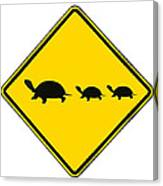 Turtle Crossing Sign Canvas Print