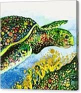 Turtle Love Canvas Print
