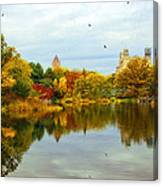 Turtle Pond 2 - Central Park - Nyc Canvas Print