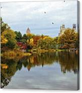 Turtle Pond - Central Park - Nyc Canvas Print
