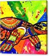 Turtle Pop Art Canvas Print