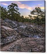 Turtle Rocks Atop Petit Jean Mountain - Arkansas Canvas Print