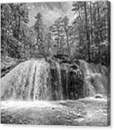 Turtletown Creek In Black And White Canvas Print
