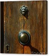 Tuscan Doorknob Canvas Print