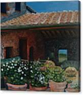 Tuscan Flower Pots Canvas Print